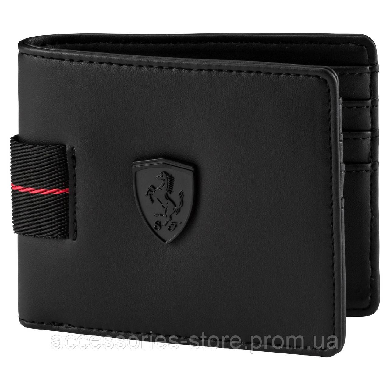 Кошелек Ferrari Brand Black Shadow Wallet, Black