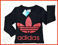 Детская кофта Adidas с красным логотипом, впереди