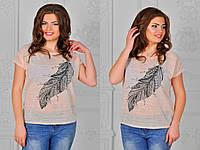 Женская футболка х/б марля