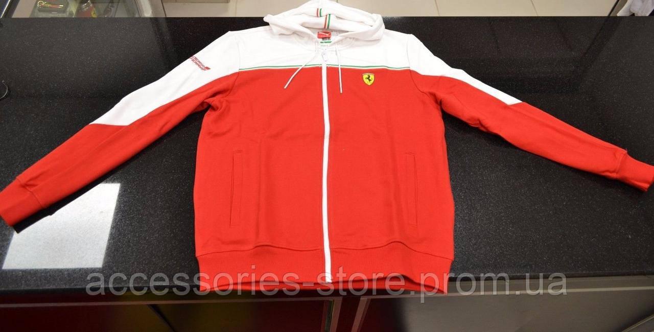 Мужская толстовка Ferrari Red and White Sweater Jacket