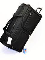 Огромная большая   дорожная сумка на  колесах LYS Франция 8431 черная 150 литров