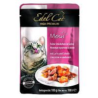 Консервы Edel Cat для кошек нежные кусочки в желе, лосось и камбала, 100 г