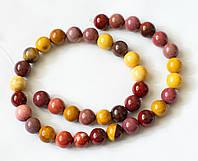 Мукаит (австралийская яшма), бусины, шар 10,5 мм
