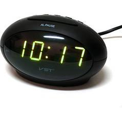Часы сетевые 711-2 зеленые