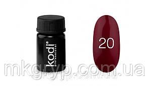 Гель фарба № 20 колір бордо