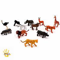 """Набор реалистичный животных """"Дикие джунгли""""  от Learning Resources (12 шт)"""