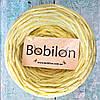 Ленточная пряжа Бобилон, цвет желтый рябчик