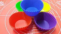 Силиконовые формы в наборе для кексов 10 шт.