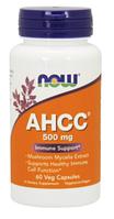 Соединение активной полуцеллюлозы, AHCC, Now Foods, AHCC, 500 mg, 60  Caps