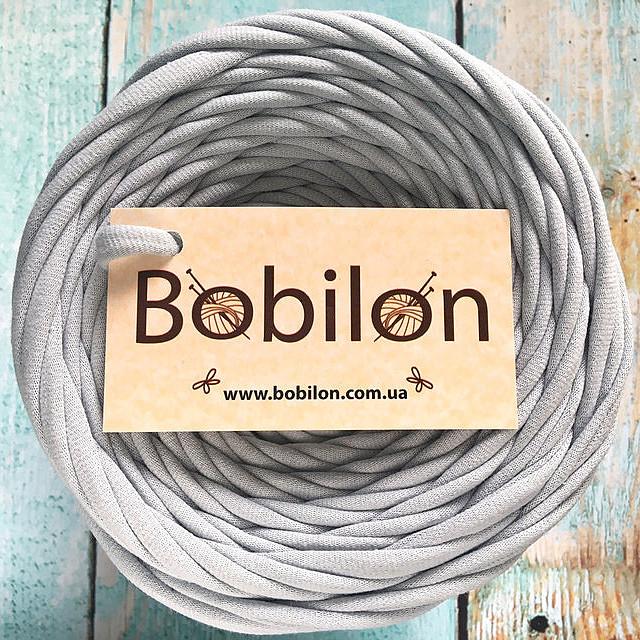 Пряжа для ковриков Бобилон 5-7 мм, цвет серебро