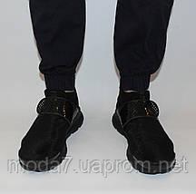 Кроссовки мужские черные Nike sock dart сетка реплика, фото 2