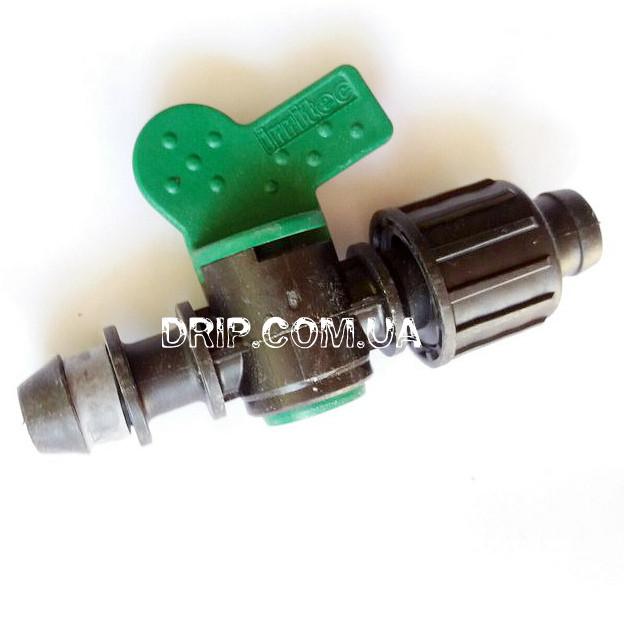 Кран Irritec для капельной ленты с впаянной резинкой