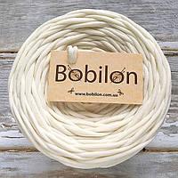 Пряжа для ковриков Бобилон 5-7 мм, цвет пломбир