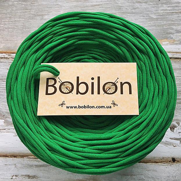 Пряжа для ковриков Бобилон 5-7 мм, цвет изумруд