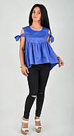 Молодежная женская блузка с рюшей