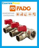Коллектор FADO с шаровыми кранами  3/4 x1/2  2-выхода