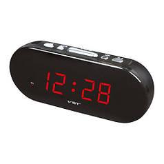 Часы сетевые 715-1 красные