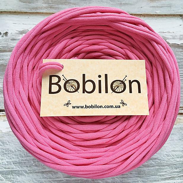 Толстая пряжа Бобилон 5-7 мм, цвет розовый фламинго