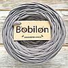 Толстая пряжа Бобилон 5-7 мм, цвет пепельный