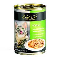 Консервы Edel Cat для кошек нежные кусочки в соусе, индейка и печень, 400 г