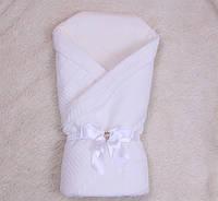 Осенний конверт на выписку для малышей Эвет (белый)