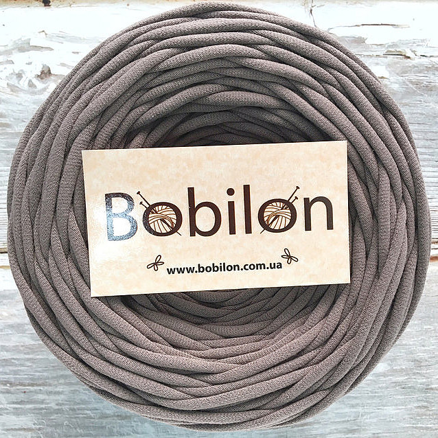 Толстая пряжа Бобилон 5-7 мм, цвет какао