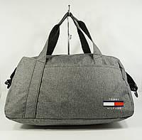Cпортивная, дорожная сумка Tommy Hilfiger 1220-2 серая