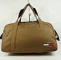 Cпортивная, дорожная сумка Tommy Hilfiger 1220-3 коричневая