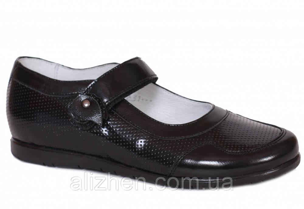 Туфли школьные кожаные детские подростковые для девочки тм Каприз Украина р.  31 32 33 34 88dbbd266a735