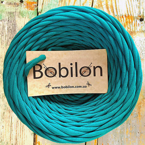 Толстая пряжа Бобилон 5-7 мм, цвет голубая лагуна
