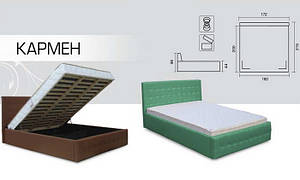 Ліжко Кармен(1,6х2 м) Без матраца і ортопед підстави Фабрика м'яких меблів Віка