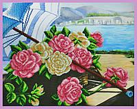 Набор для вышивания бисером «Розы на берегу»