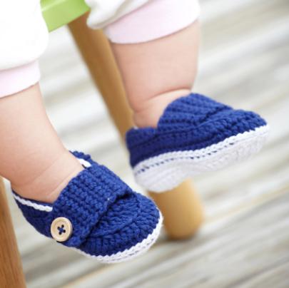 вязаный пинетки для новорожденных