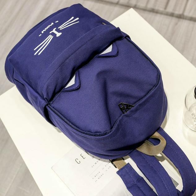 Рюкзак с холста с котиком