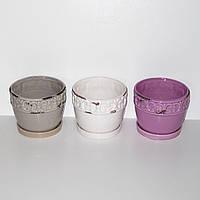 Керамический горшок для цветов, 10*12см