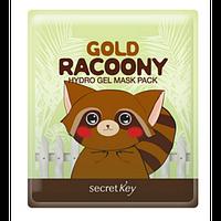 Гидрогелевая маска для лица Secret key Gold Racoony Hydro Gel Mask Pack