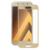 Защитное Стекло Full Screen Samsung A320 (A3-2017) Gold