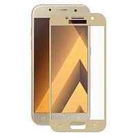 Защитное Стекло Full Screen Samsung A320 (A3-2017) Gold, фото 1