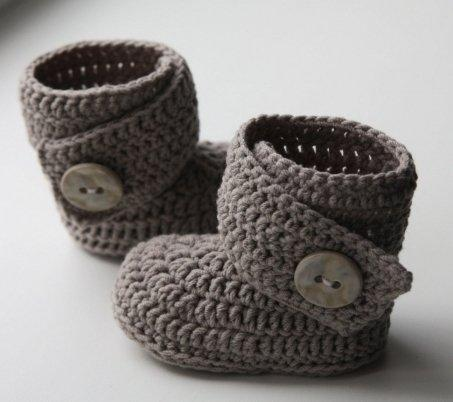 Стильные вязаные пинетки-ботиночки для новорожденных девочек от ... ad9a2823abf