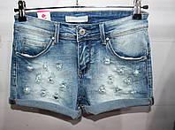 Шорты женские, купить оптом со склада женские шорты джинсовые, оптом 7 км, IN 1062 JDJ- 8533