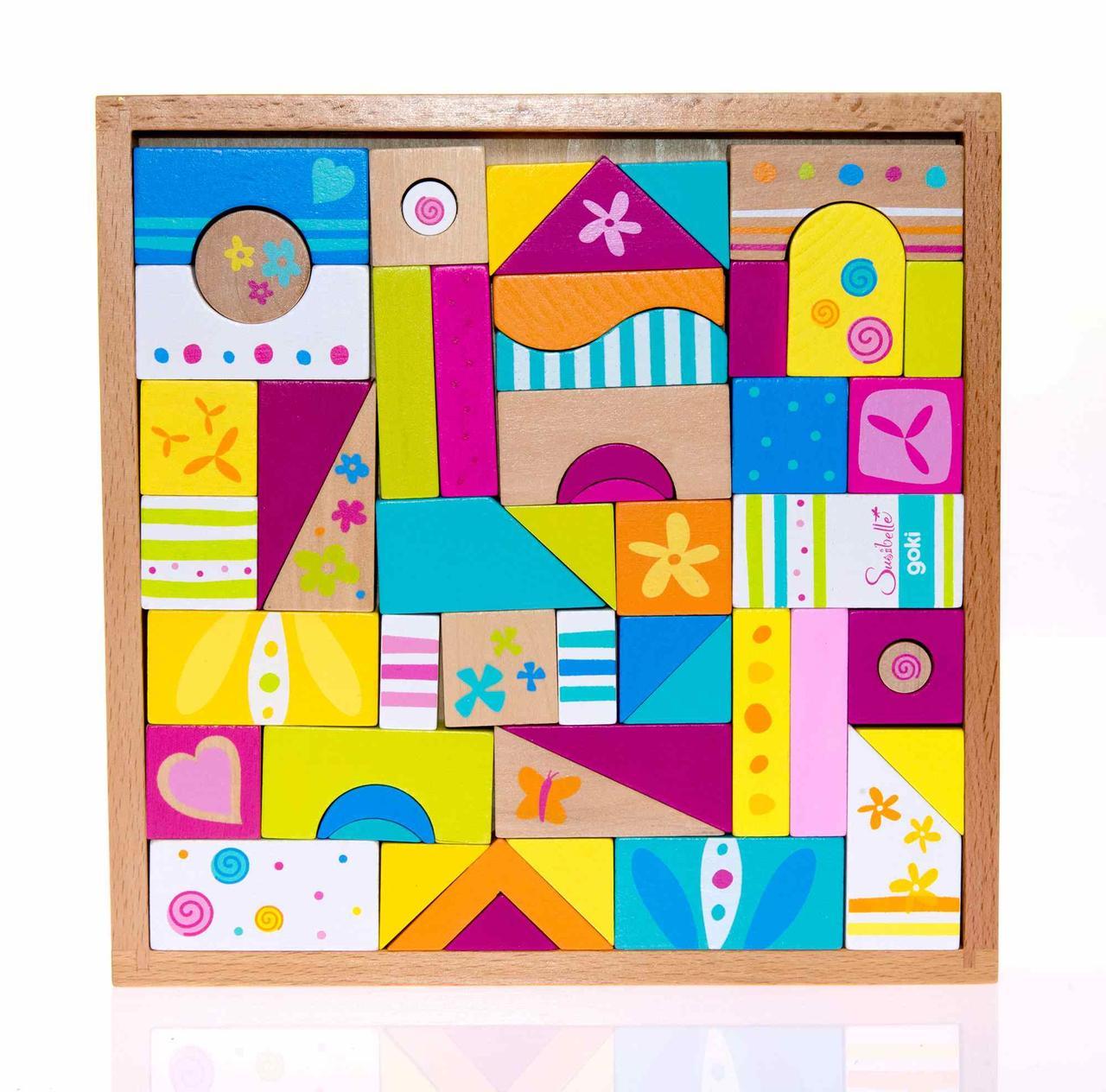 Goki Конструктор деревянный Susibelle 50 58499