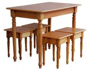 Стол +4 табуретки (16мм). Мебель Сервис