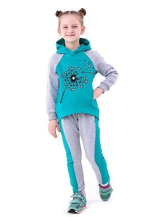 """Трикотажный спортивный костюм для девочек """"Одуванчик"""", фото 2"""