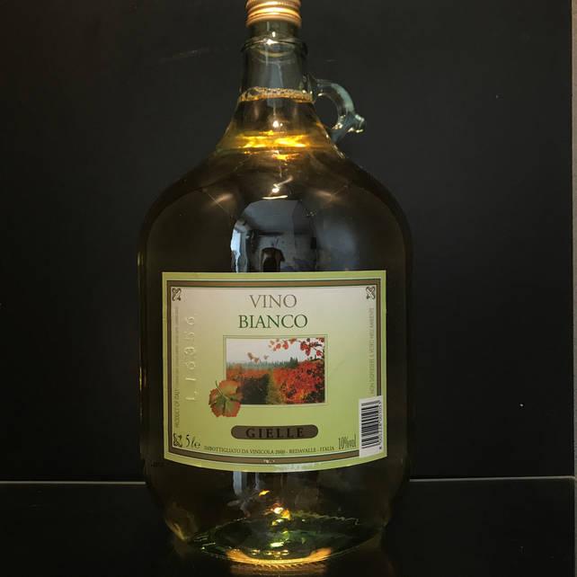 Итальянское столовое вино Vino Bianco Gielle 5л