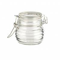 Баночка стеклянная рифлёная с зажимом Axentia 100 ml
