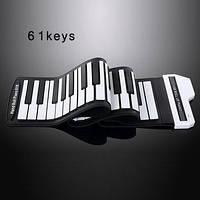 Клавиши пианино клавиатура USB фортепьяно силиконовая на 61/88 клавиш