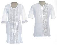 Вишиванки для пари - довге плаття і чоловіча сорочка