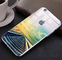 """Прозрачный силиконовый чехол с эффектом """"Дороги"""" iphone 6/6S"""