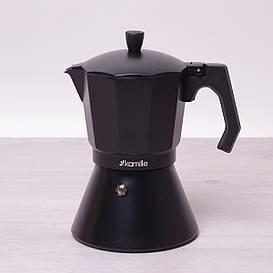 Кофеварка гейзерная Kamille 450мл из алюминия с широким индукционным дном