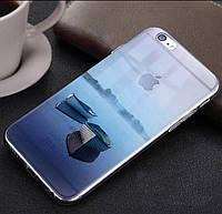 """Прозрачный силиконовый чехол с эффектом """"Природы"""" iphone 6/6S"""